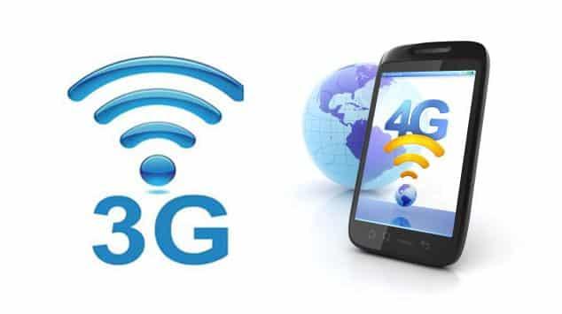 Sinyal 4G ke 3G