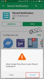 Accept Aplikasi Recent Notification