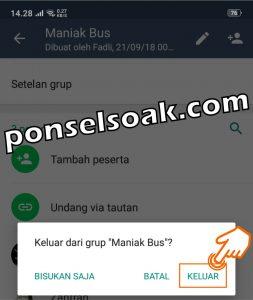 Cara Keluar Grup WhatsApp Secara Baik Baik Sopan 5