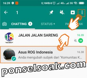 Cara Menyembunyikan Grup WhatsApp 2