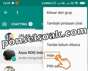 Cara Menyembunyikan Grup WhatsApp 3
