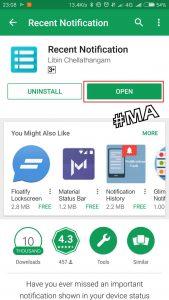 Install Aplikasi Recent Notification