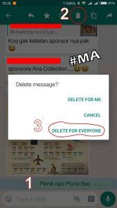 Langkah Pertama Pilih & Delete Pesan atau Chat