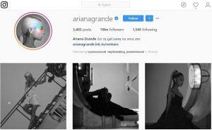 Akun Instagram dengan Follower Terbanyak Arianagrande