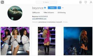 Akun Instagram dengan Follower Terbanyak Beyonce