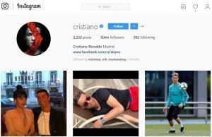 Akun Instagram dengan Follower Terbanyak Crishtiano Ronaldo