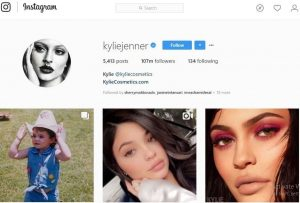 Akun Instagram dengan Follower Terbanyak Kylie Jenner