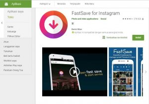 Aplikasi Download Video & Foto Instagram Fastsave