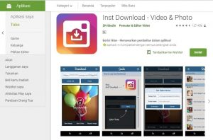 Aplikasi Download Video & Foto Instagram Inst Download