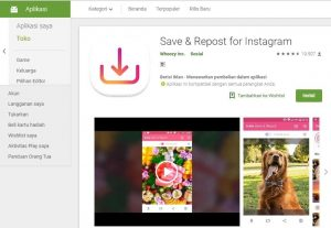 Aplikasi Download Video & Foto Instagram save & repost