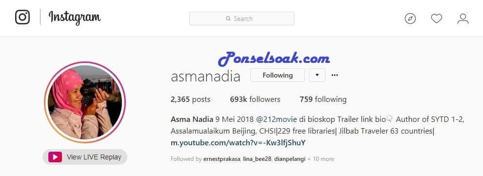 Akun Instagram yang Rekomended di Follow