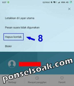 Cara Menghapus Kontak di Whatsapp 8
