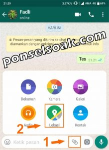 Cara Share Live Lokasi Di WhatsApp 1