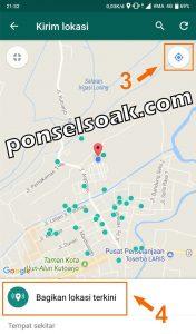 Cara Share Live Lokasi Di WhatsApp 2