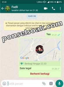 Cara Share Live Lokasi Di WhatsApp 5