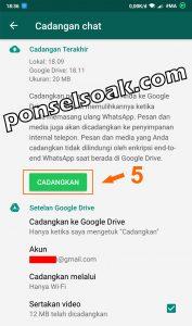 Memindahkan Akun Whatsapp ke HP Baru 5