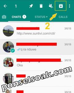 Menyembunyikan Kontak Whatsapp Menu Arsip 2