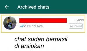 Menyembunyikan Kontak Whatsapp Menu Arsip 5