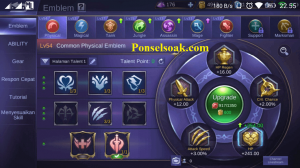 Build Emblem Akai Mobile Legends 1