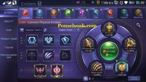 Build Emblem Karrie Mobile Legend 1