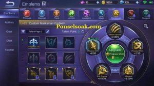 Build Emblem Karrie Mobile Legend 2