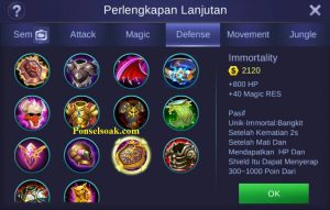 Build Gear Akai Mobile Legends 2