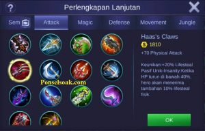 Build Gear Alucard Mobile Legends 4