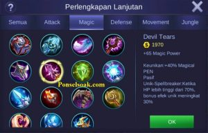 Build Gear Aurora Mobile Legends 4