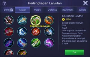 Build Gear Franco Mobile Legend 6