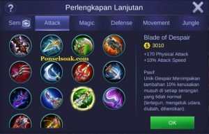 Build Gear Freya Mobile Legend 2