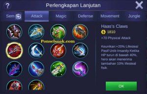 Build Gear Freya Mobile Legend 5