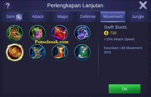 Build Gear Irithel Mobile Legends 1