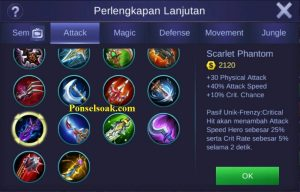 Build Gear Irithel Mobile Legends 2