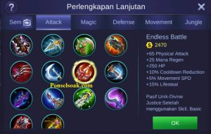 Build Gear Irithel Mobile Legends 3