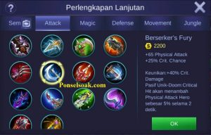 Build Gear Irithel Mobile Legends 4