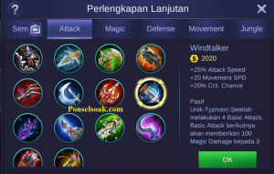 Build Gear Irithel Mobile Legends 5
