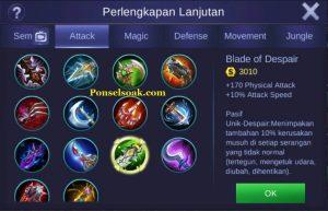 Build Gear Karrie Mobile Legends 6
