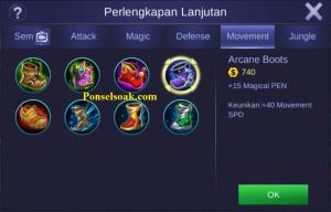 Build Gear Odette Mobile Legends 1