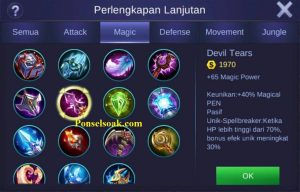 Build Gear Odette Mobile Legends 4