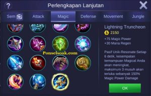 Build Gear Pharsa Mobile Legends 2