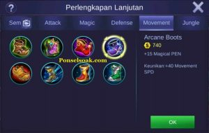 Build Gear Pharsa Mobile Legends