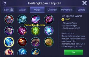 Build Gear Pharsa Mobile Legends 4
