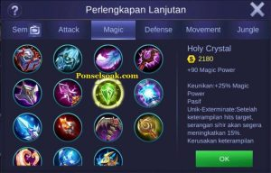 Build Gear Pharsa Mobile Legends 5