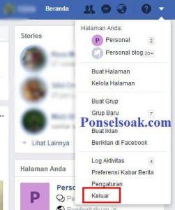 Cara Masuk Dan Keluar Facebook Via Web Facebook 5