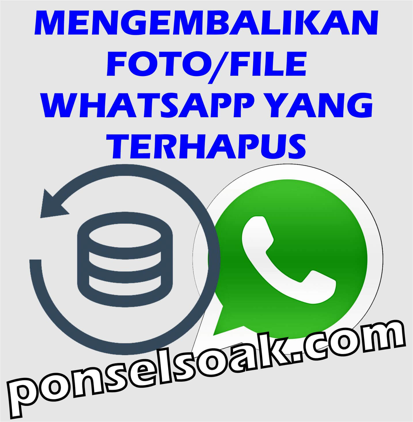 Cara Mengembalikan Foto, File Whatsapp Yang Terhapus