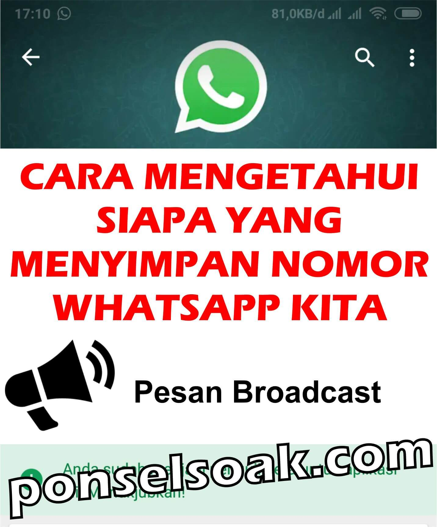 2+ Cara Mengetahui Siapa Yang Menyimpan Nomor WhatsApp Kita
