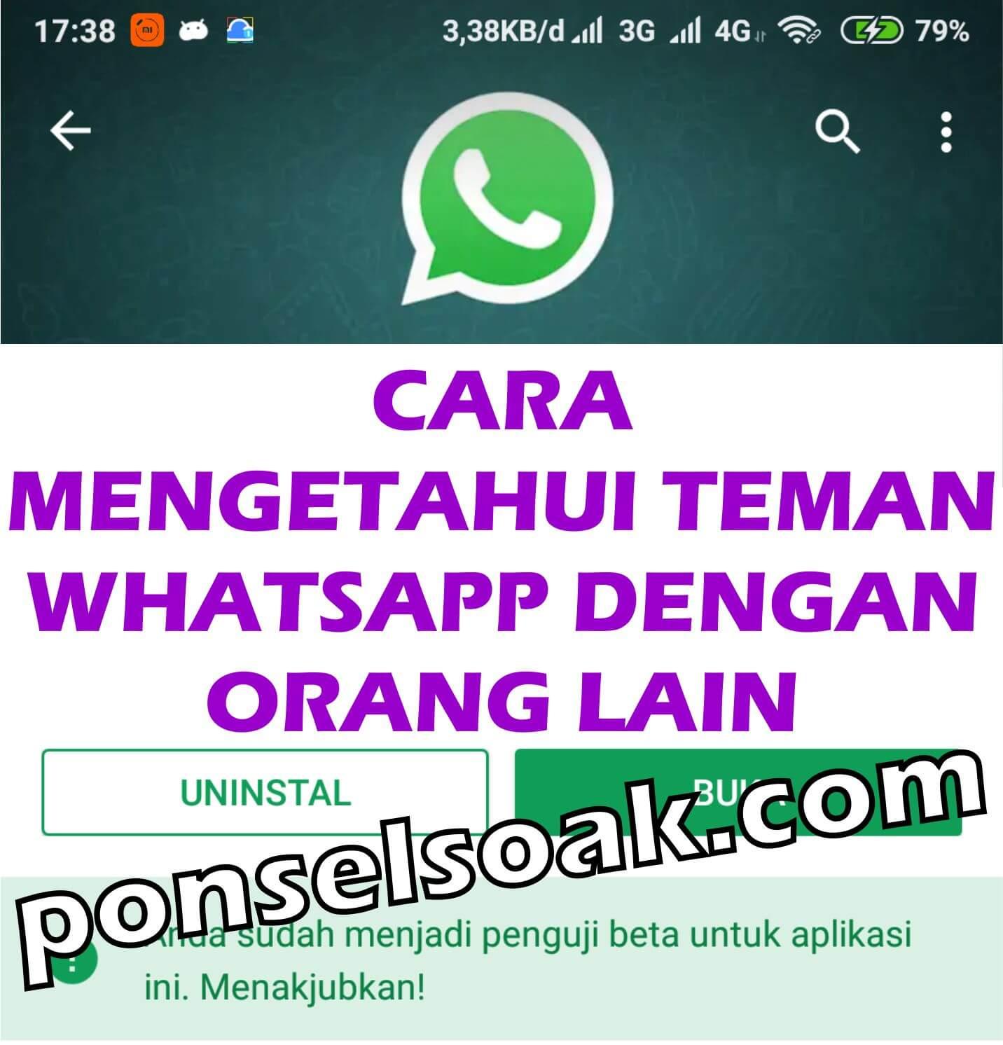 Cara Mengetahui Teman WhatsApp Online Dengan Orang Lain