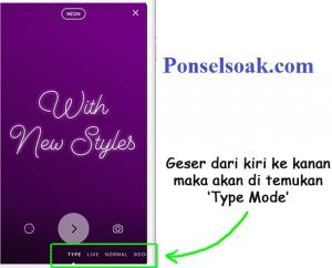 Cara Menggunakan Mode Type Di Instagram Story 2