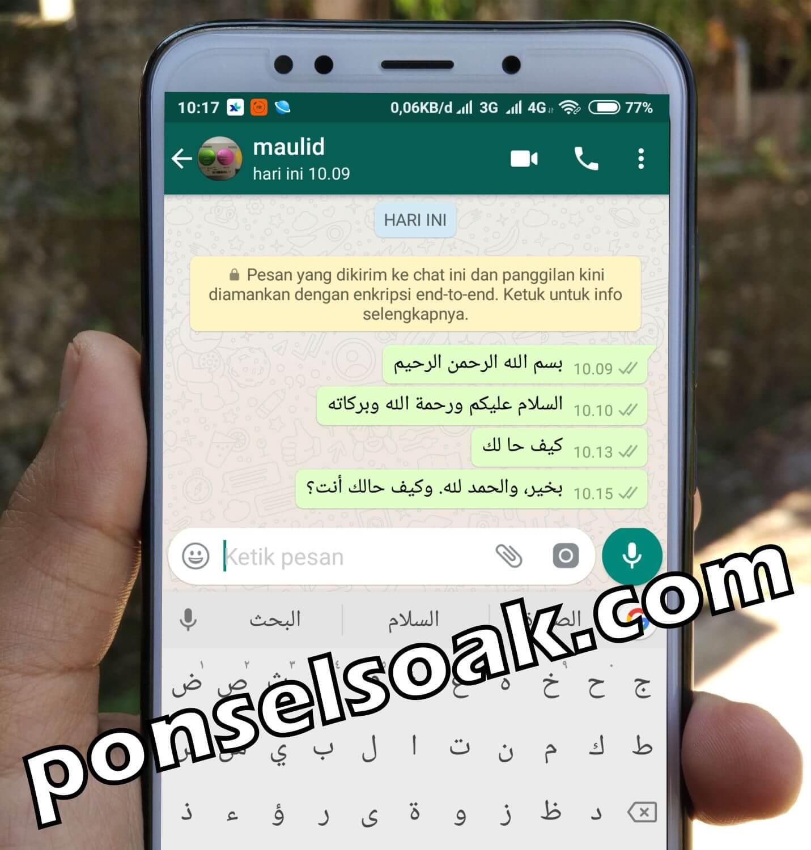 Cara Menulis Huruf Arab di WhatsApp