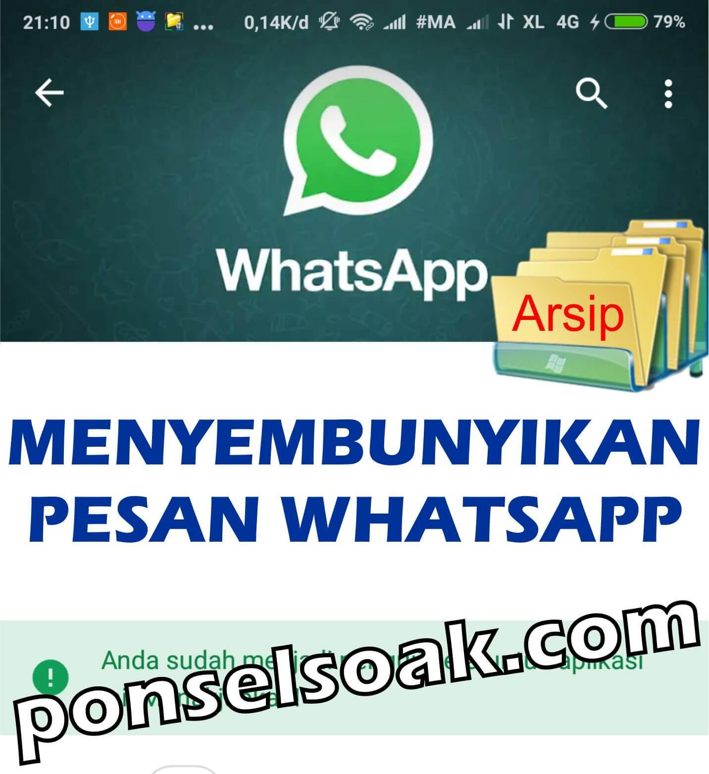 3+ Cara Menyembunyikan Pesan WhatsApp